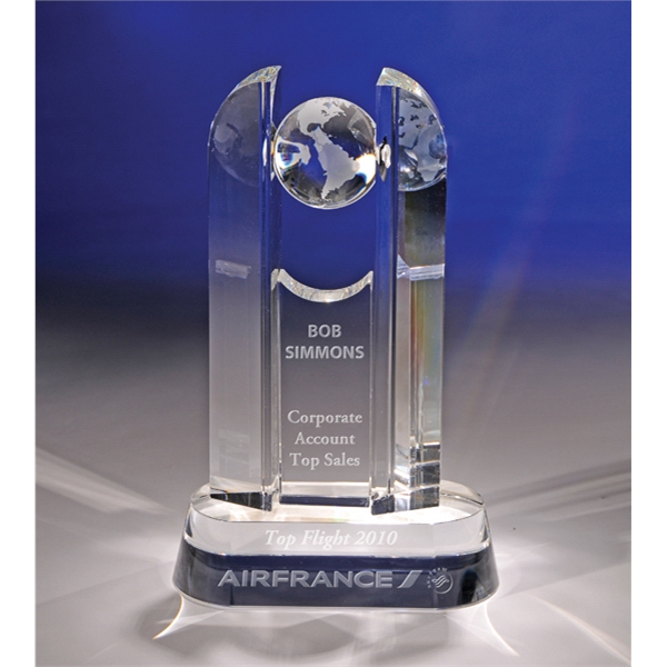 Customized Luminary  Crystal Award by CRYSTAL WORLD