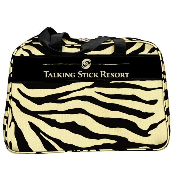 Customized Zebra Duffel Bag