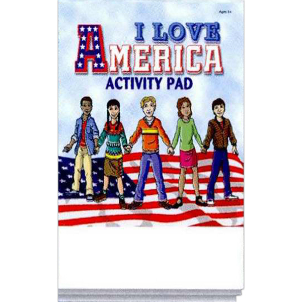 Custom I Love America Activity Pad Fun Pack