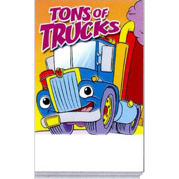 Printed Tons Of Trucks Activity Pad Fun Pack