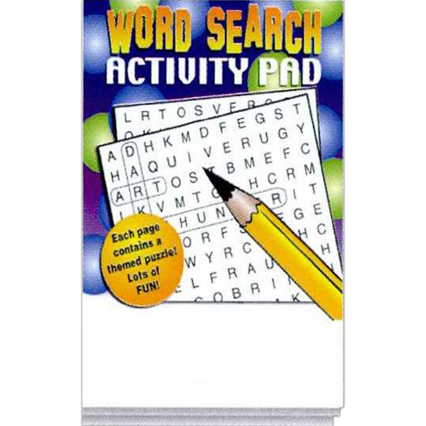 Imprinted Word Search Activity Pad Fun Pack
