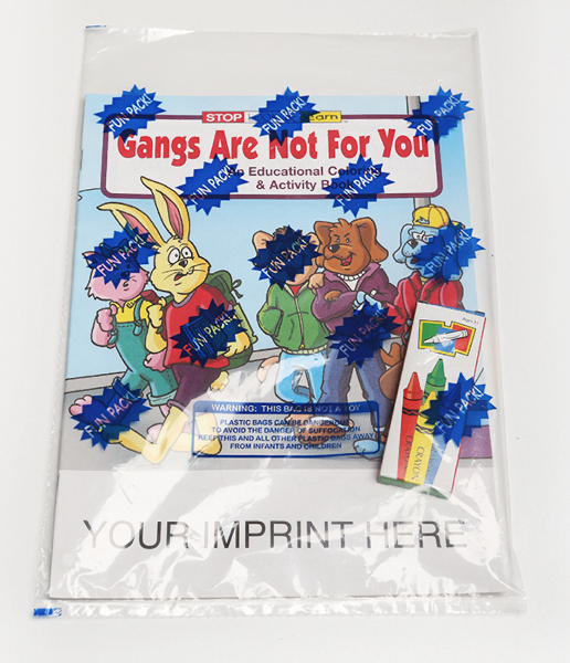 Printed Gangs Are Not For You Coloring and Activity Book Fun Pack