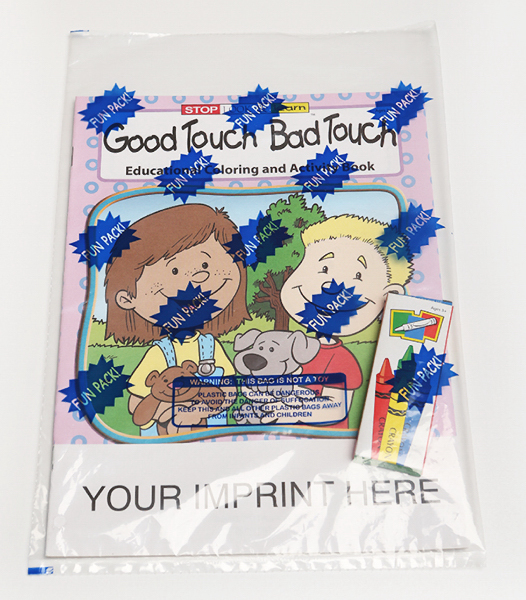 Custom Good Touch Bad Touch Coloring and Activity Book Fun Pack