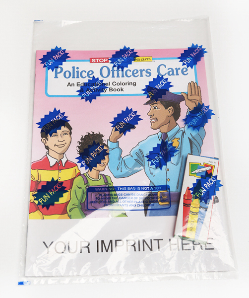Promotional Police Officers Care Coloring and Activity Book Fun Pack