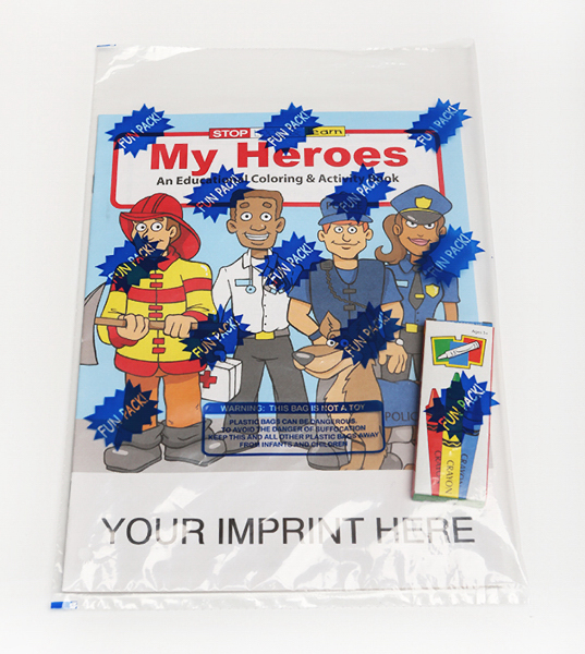 Promotional My Heroes Coloring and Activity Book Fun Pack