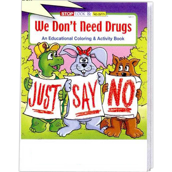 Personalized We Don't Need Drugs Coloring and Activity Book Fun Pack