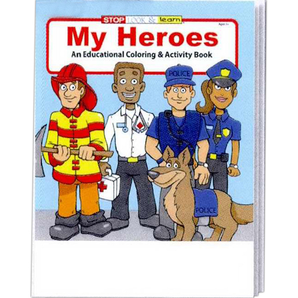 Customized My Heroes Coloring and Activity Book Fun Pack