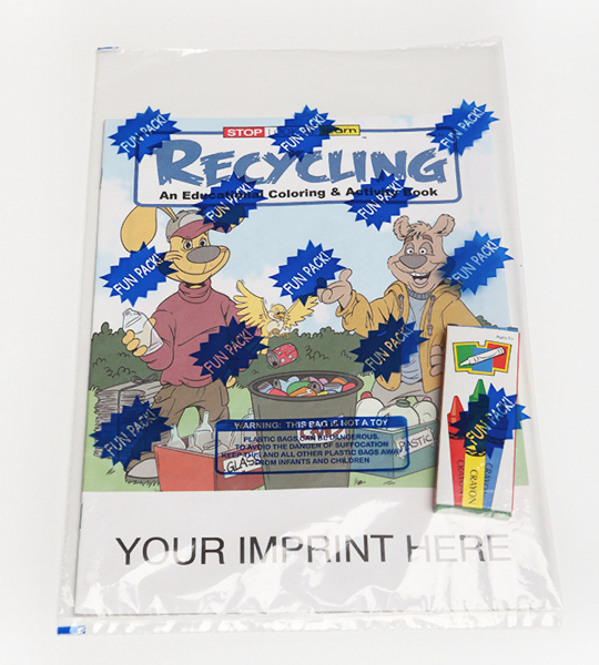 Promotional Recycling Coloring and Activity Book Fun Pack
