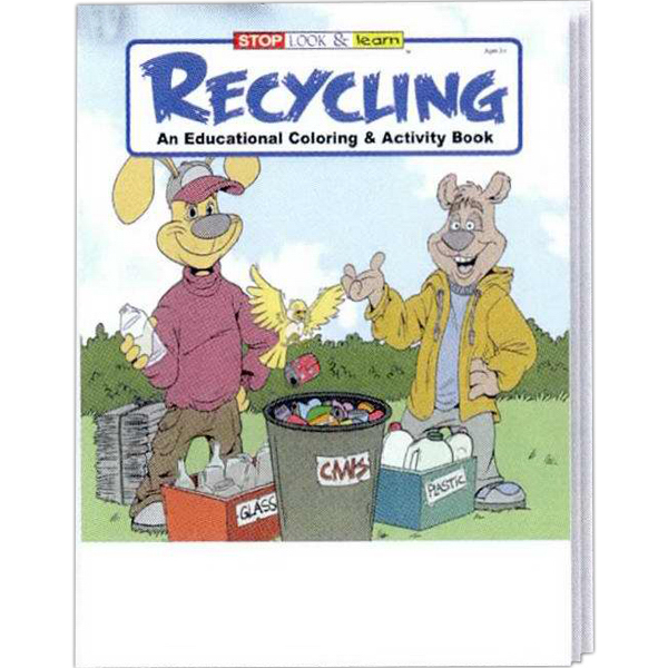 Printed Recycling Coloring and Activity Book Fun Pack