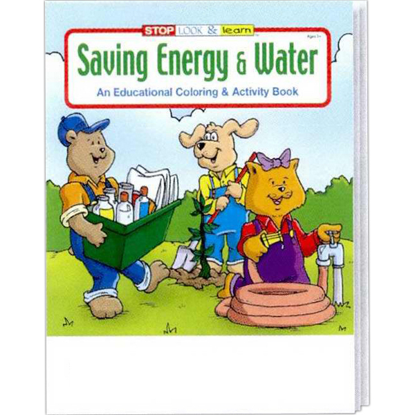 Custom Saving Energy and Water Coloring and Activity Book Fun Pack