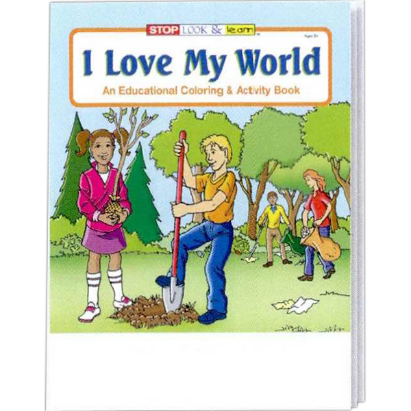 Personalized I Love My World Coloring and Activity Book Fun Pack