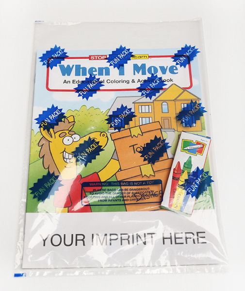 Promotional When I Move Coloring and Activity Book Fun Pack