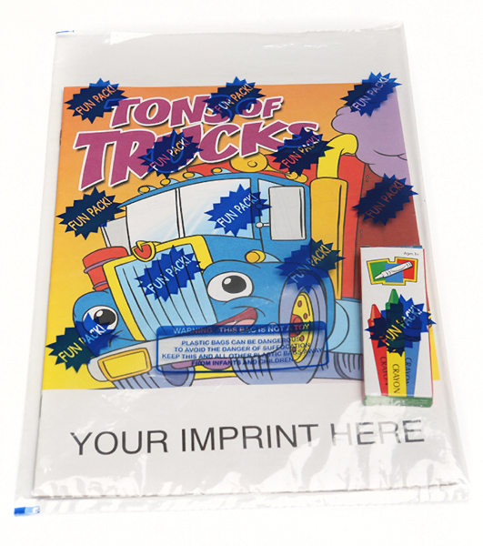 Custom Tons of Trucks Coloring and Activity Book Fun Pack