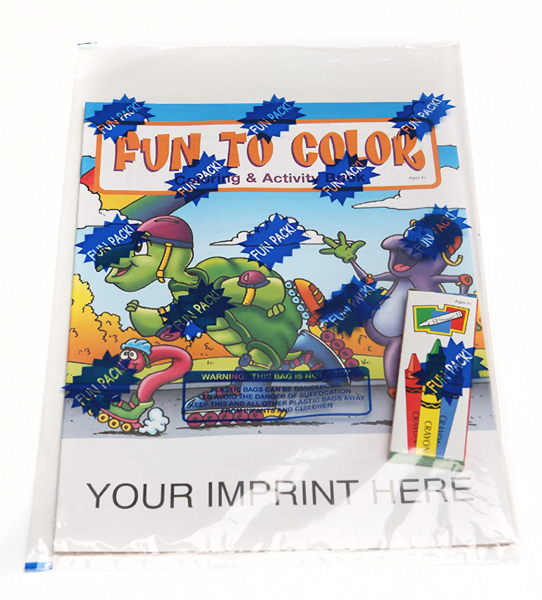 Printed Fun to Color Coloring and Activity Book Fun Pack