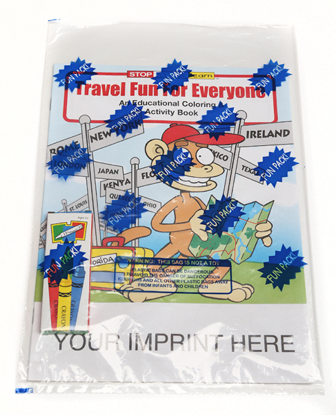 Printed Travel Fun For Everyone Coloring and Activity Book Fun Pack