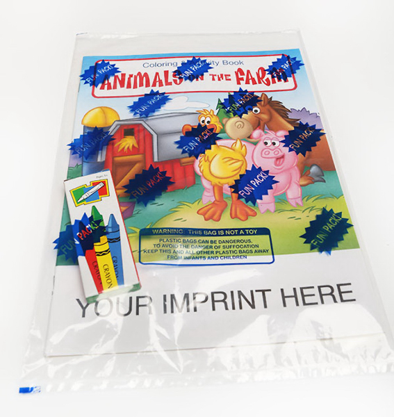 Personalized Animals on the Farm Coloring and Activity Book Fun Pack