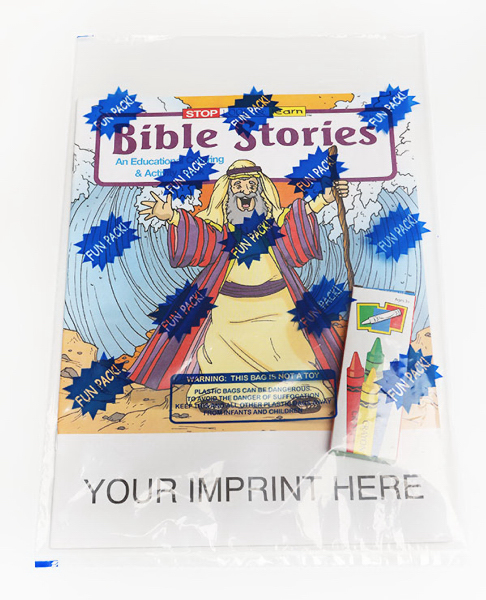 Customized Bible Stories Coloring and Activity Book Fun Pack
