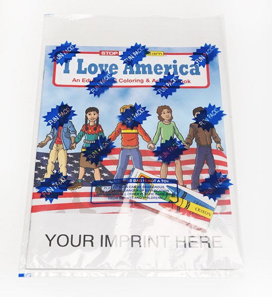 Imprinted I Love America Coloring and Activity Book Fun Pack