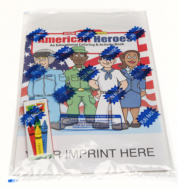 Promotional American Heroes Coloring and Activity Book Fun Pack