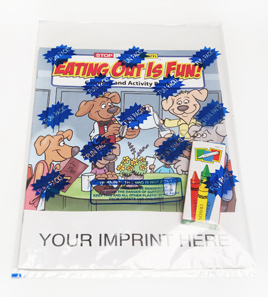 Printed Eating Out Is Fun Coloring and Activity Book Fun Pack