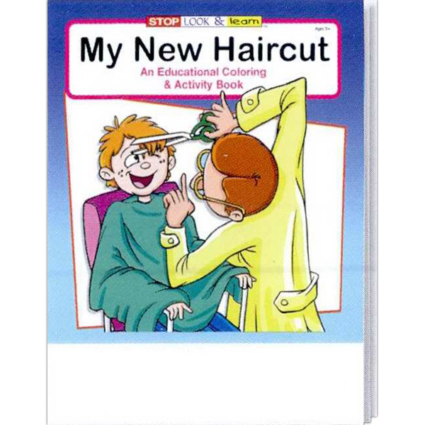 Imprinted My New Haircut Coloring and Activity Book Fun Pack