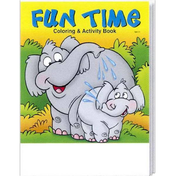 Printed Fun Time Coloring and Activity Book Fun Pack