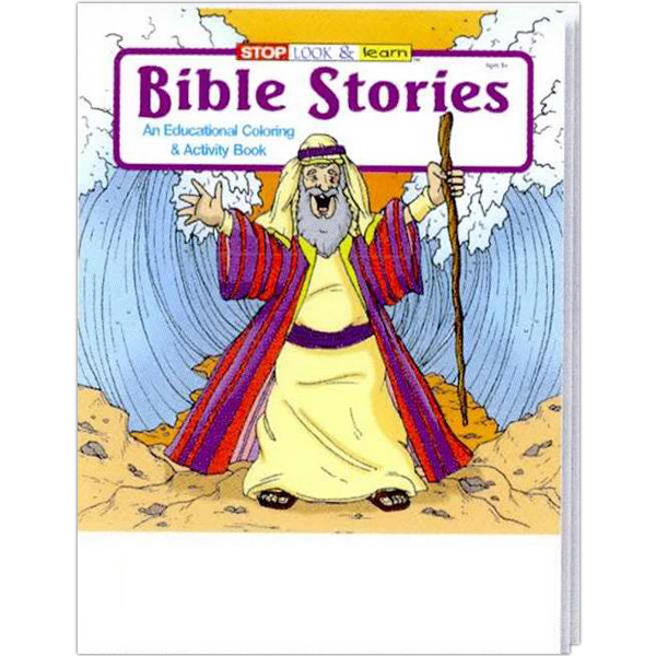 Personalized Bible Stories Coloring and Activity Book Fun Pack