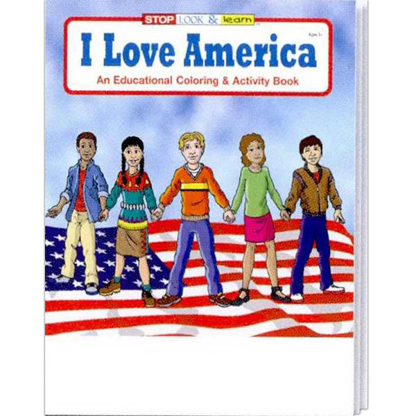 Custom I Love America Coloring and Activity Book Fun Pack