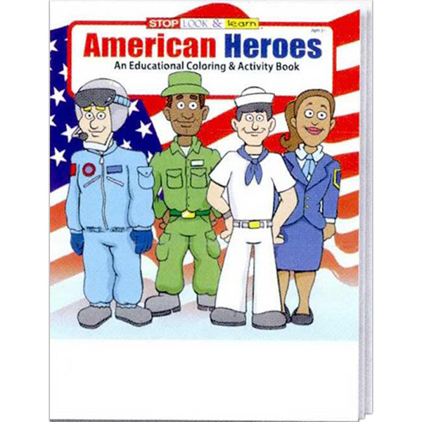 Custom American Heroes Coloring and Activity Book Fun Pack