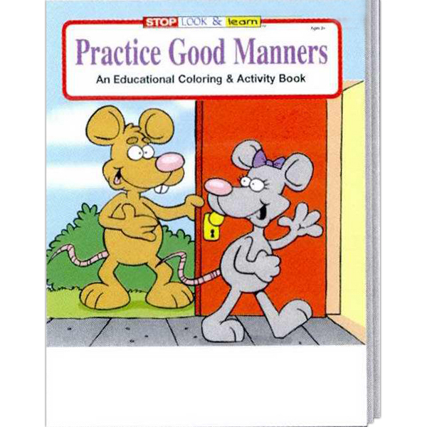 Custom Practice Good Manners Coloring and Activity Book Fun Pack