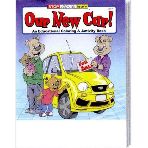 Promotional Our New Car Coloring and Activity Book Fun Pack