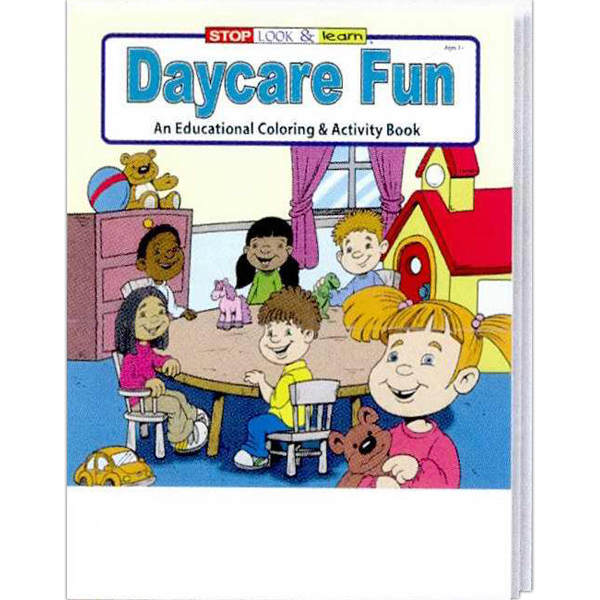 Personalized Daycare Fun Coloring and Activity Book Fun Pack