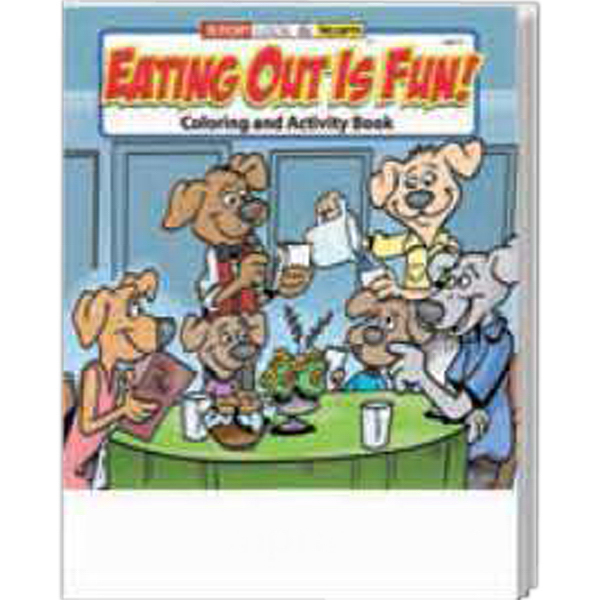 Customized Eating Out Is Fun Coloring and Activity Book Fun Pack