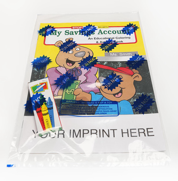 Imprinted My Savings Account Coloring and Activity Book Fun Pack