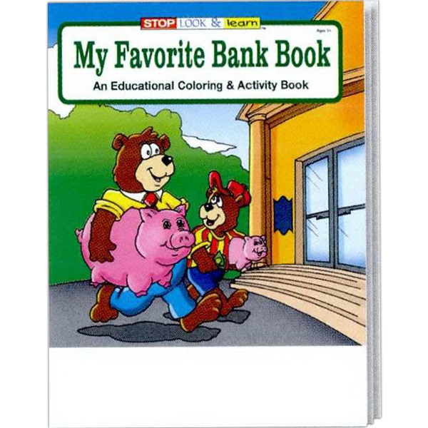 Imprinted My Favorite Bank Coloring and Activity Book Fun Pack