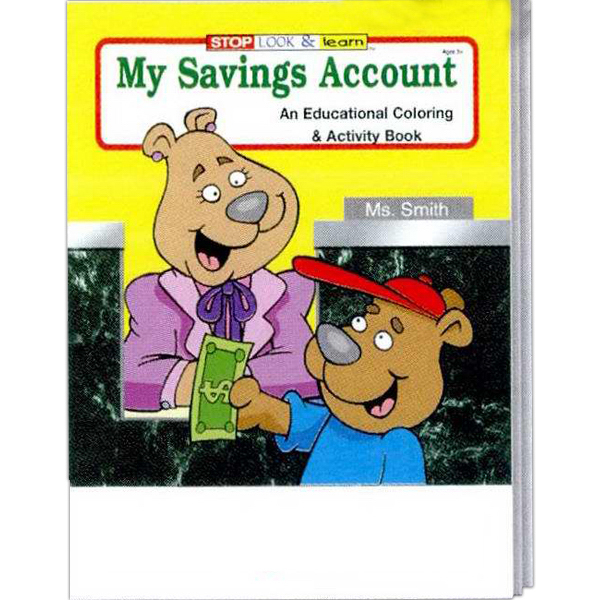 Promotional My Savings Account Coloring and Activity Book Fun Pack