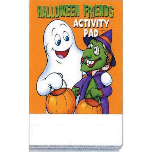 Printed Halloween Friends Activity Pad Fun Pack