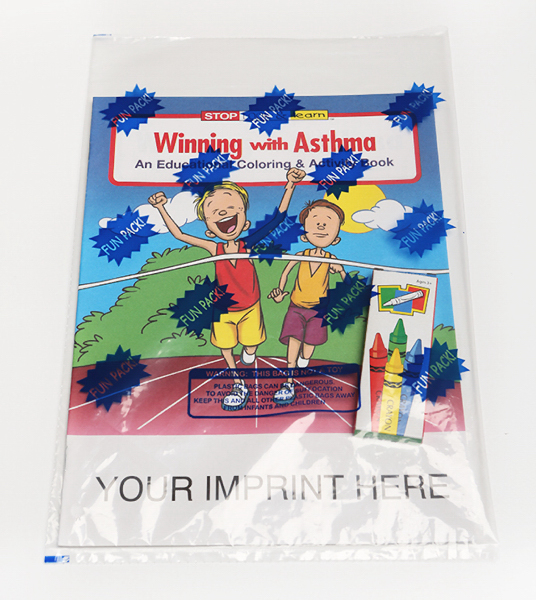 Customized Winning With Asthma Coloring and Activity Book Fun Pack