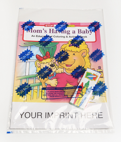 Customized Mom's Having a Baby Coloring and Activity Book Fun Pack