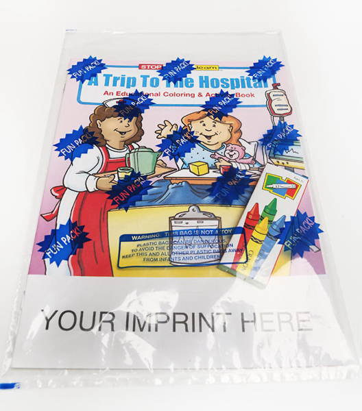 Printed A Trip to the Hospital Coloring and Activity Book Fun Pack