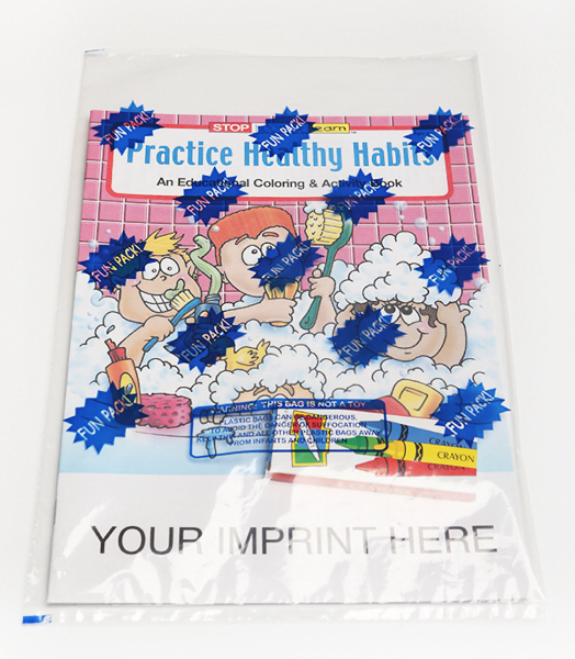 Personalized Practice Healthy Habits Coloring and Activity Book Fun Pack