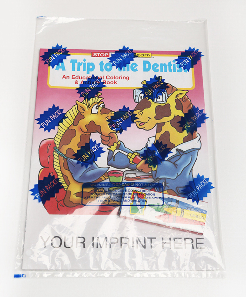 Imprinted A Trip to the Dentist Coloring and Activity Book Fun Pack
