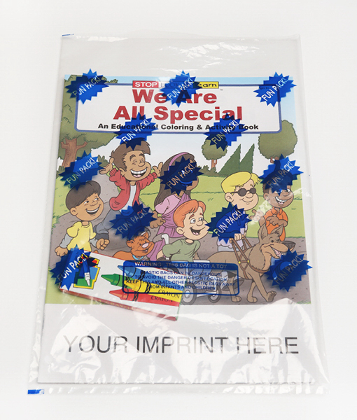 Promotional We Are All Special Coloring and Activity Book Fun Pack