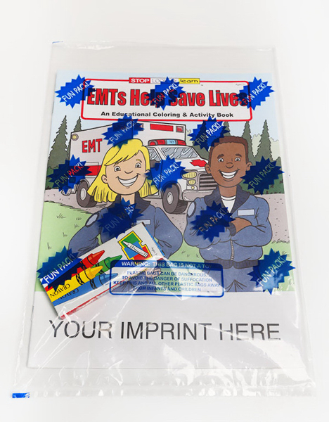 Printed EMTs Help Save Lives Coloring and Activity Book Fun Pack