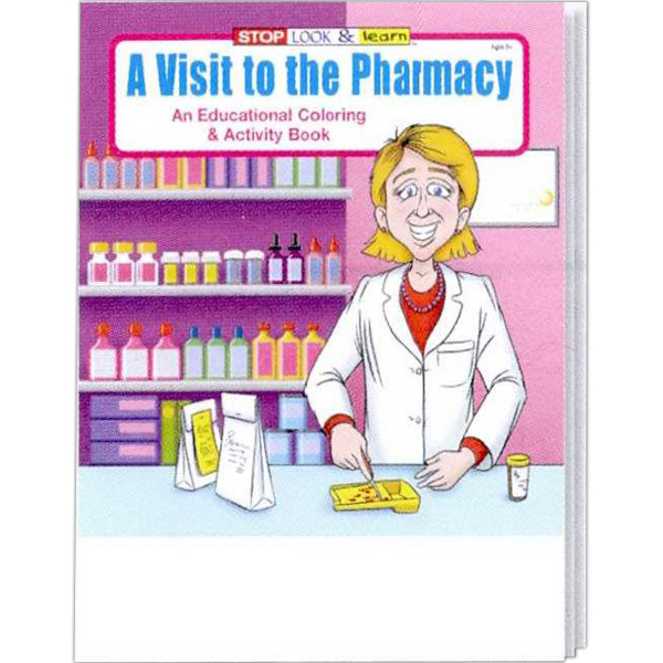 Customized A Visit to the Pharmacy Coloring and Activity Book Fun Pack