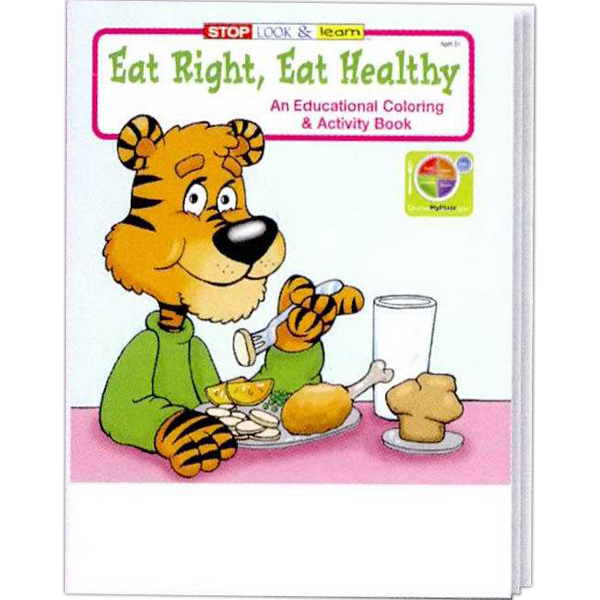 Personalized Eat Right, Eat Healthy Coloring and Activity Book Fun Pack