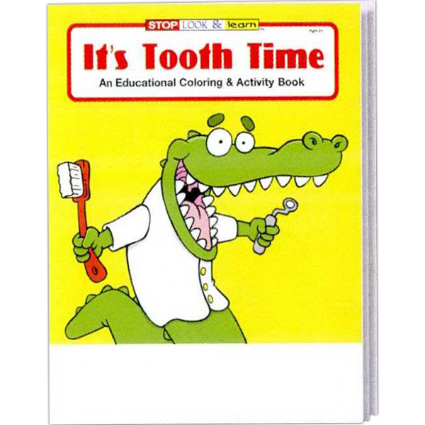 Printed It's Tooth Time Coloring and Activity Book Fun Pack