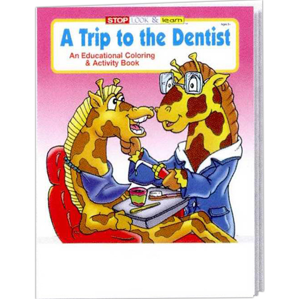 Custom A Trip to the Dentist Coloring and Activity Book Fun Pack