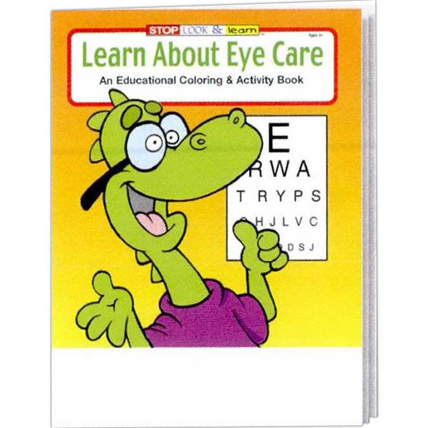 Personalized Learn About Eye Care Coloring and Activity Book Fun Pack