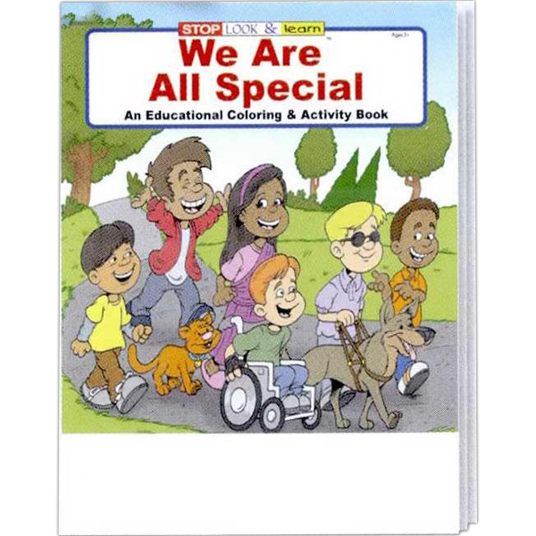 Imprinted We Are All Special Coloring and Activity Book Fun Pack